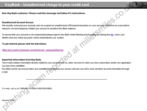 Unauthorized charge to your credit card