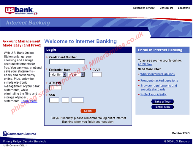 Online banking issue (US Bank)