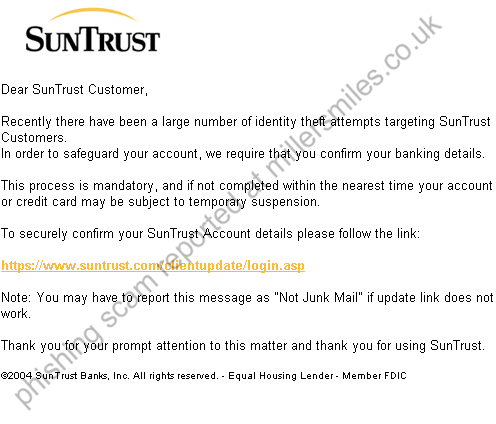 SunTrust Bank: FRAUD VERIFICATION PROCESS