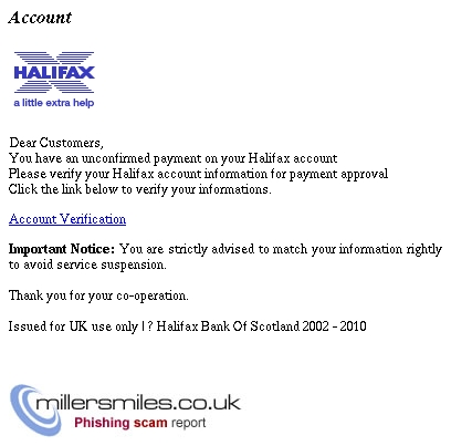 You Have An Unconfirmed Payment On Your Halifax Account