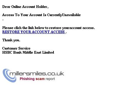 HSBC Bank- Security Notification ! - HSBC Bank Middle East