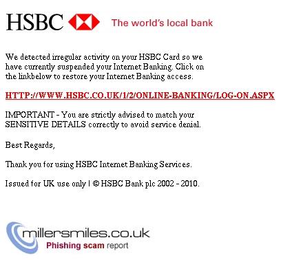 HSBC Bank Plc - Access Suspended :- - HSBC Bank Plc