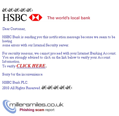 hsbs banking scam