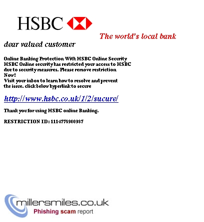 YOUR HSBC PERSONAL ONLINE BANKING ACCOUNT HAS BEEN