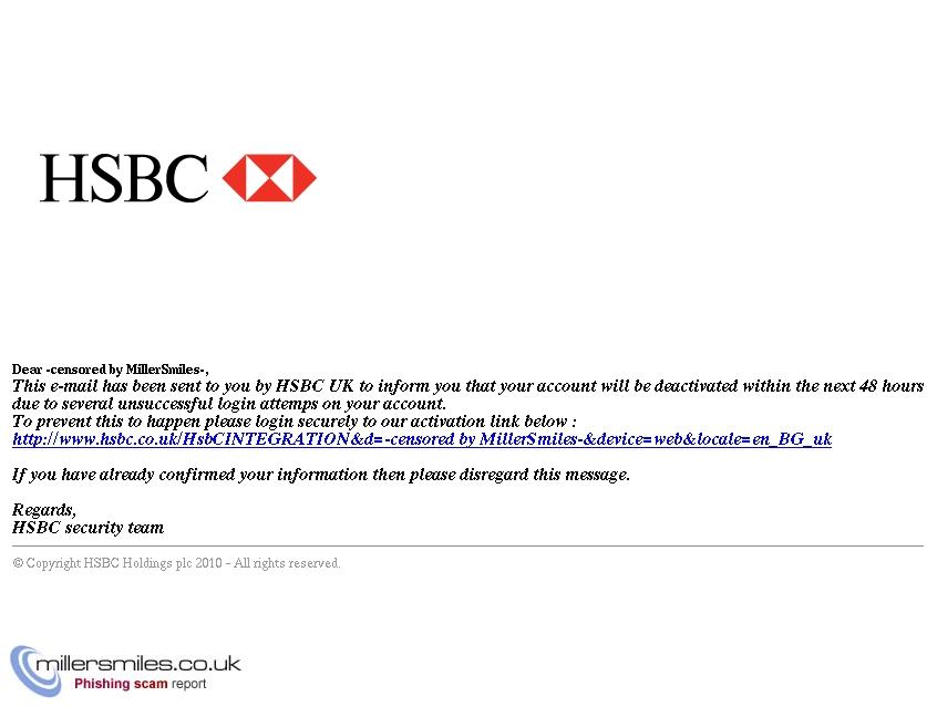 UK HSBC - HSBC Bank Alert - Important Information] - HSBC Phishing