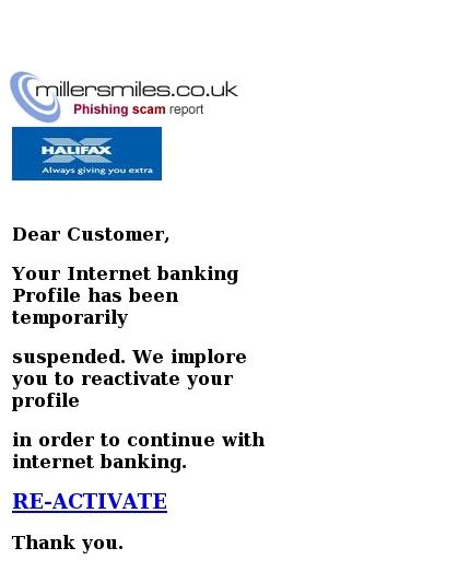 active bank account scam