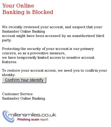 bank blocked my account