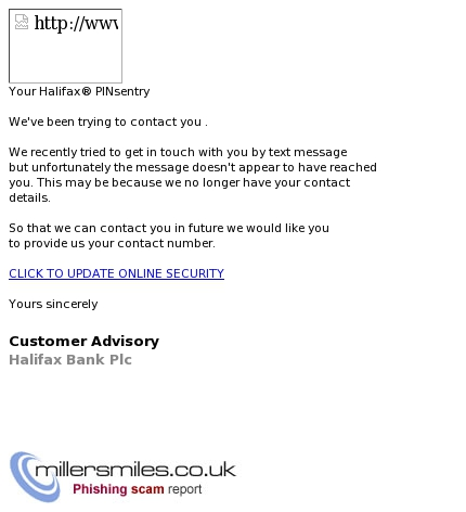 Your Halifax  PINsentry - Halifax Phishing Scams - MillerSmiles co uk