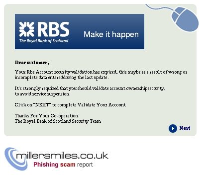 Important Notice From Royal Bank Of Scotland Rbs The Royal Bank Of Phishing Scams Millersmiles Co Uk