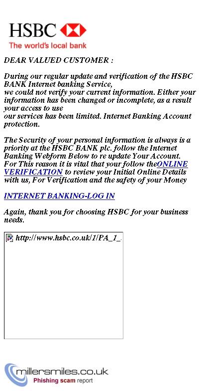 HSBC Internet Banking -Online User Notification - HSBC