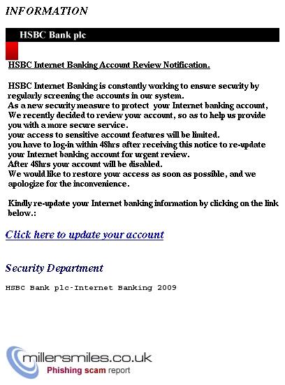 2009 HSBC BANK ONLINE BANKING INFORMATION - HSBC BANK PLC