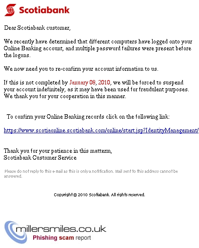 Important Notice from Scotiabank Billing Center - Scotiabank
