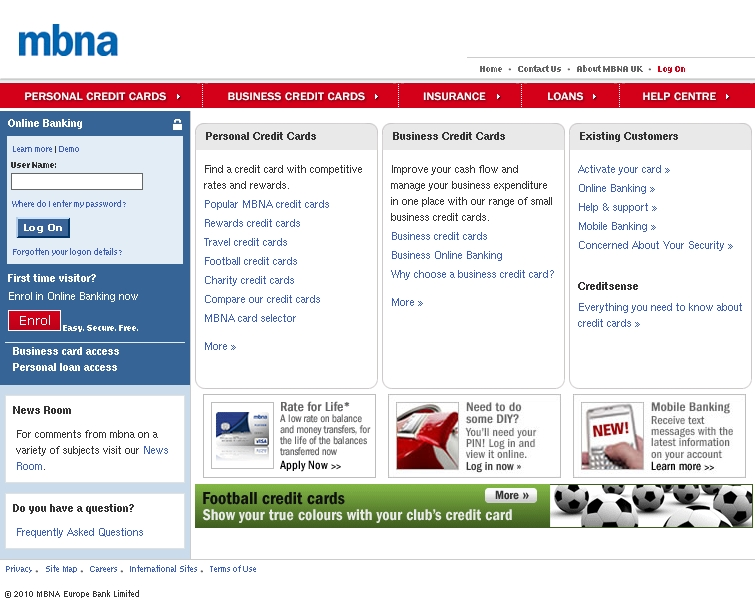 Mbna online banking protect your account fully mbna online click for full size image reheart Gallery