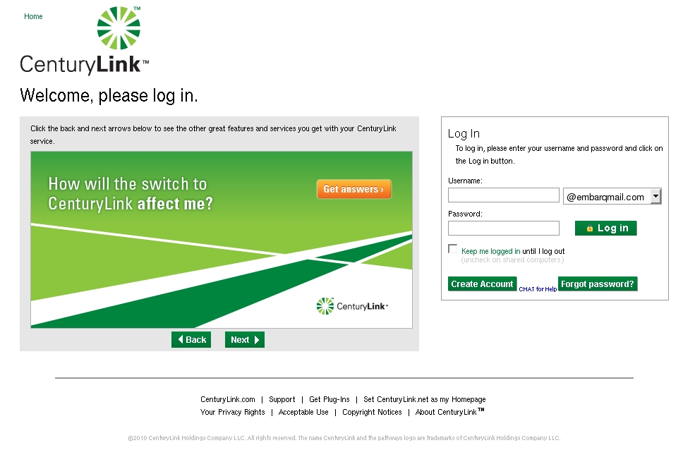 Centurylink Net Login >> Webmail Security Alert Centurylink Customer Service