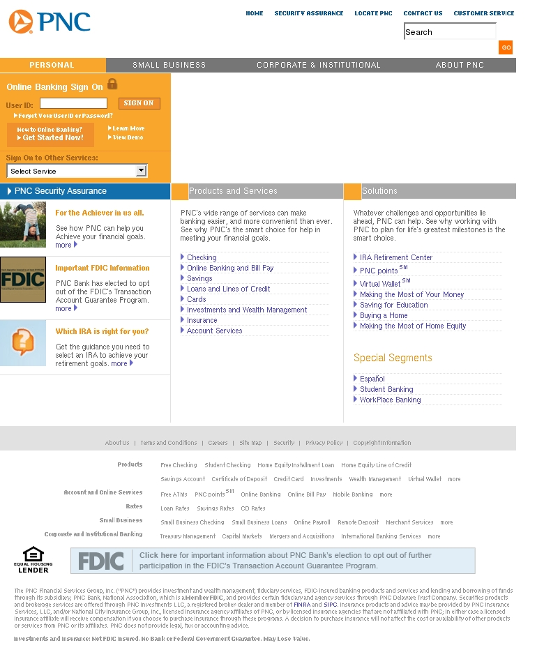 Online Banking Alert - PNC Bank Phishing Scams