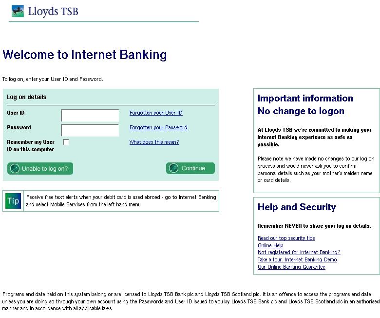 lloyds tsb internet banking transfer money abroad