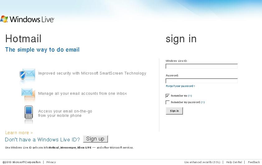 Hotmail co comuk
