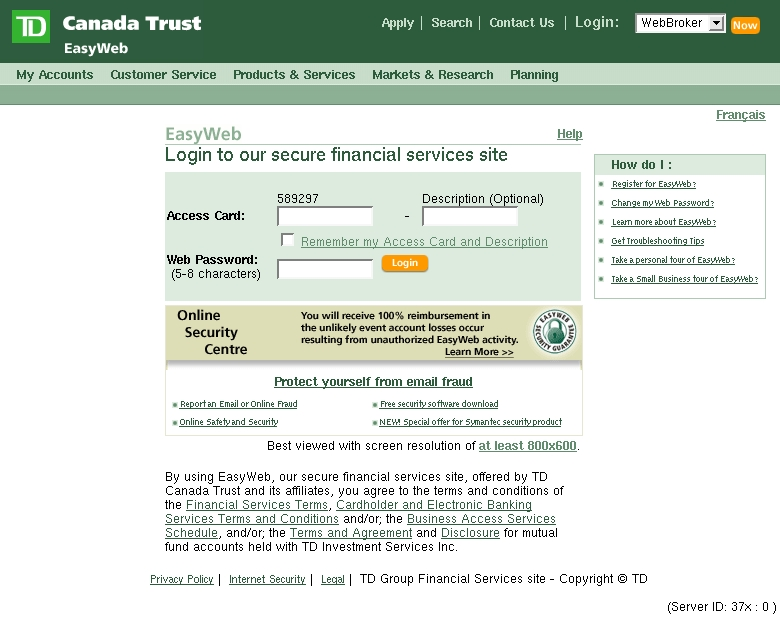 Online Safety & Security Alert - TD Canada Phishing Scams