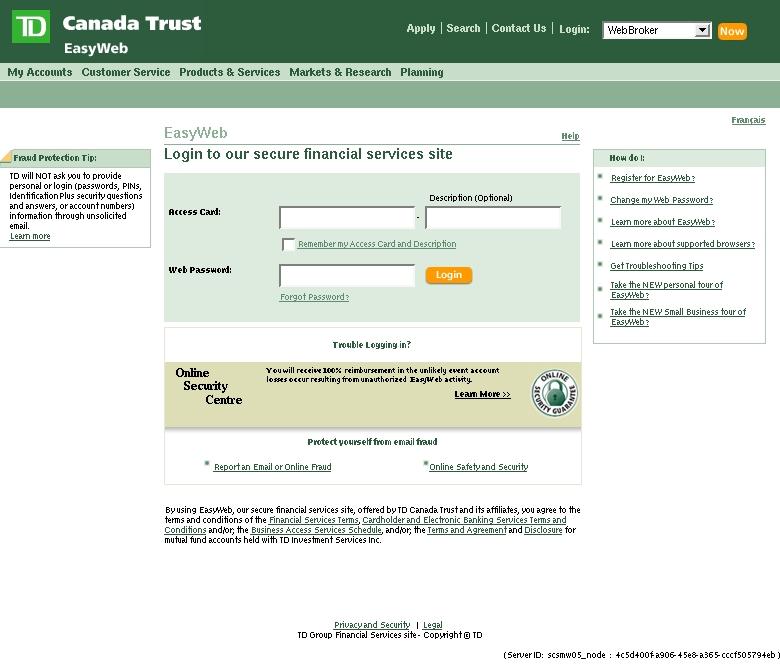 Td Canada Trust Easyweb Login Td Bank – WW Auth