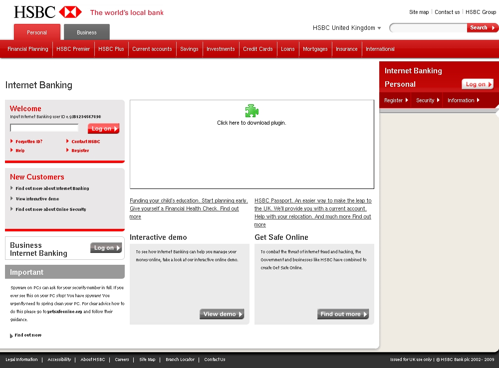 Your hsbc internet banking has been suspended hsbc internet click for full size image reheart Images
