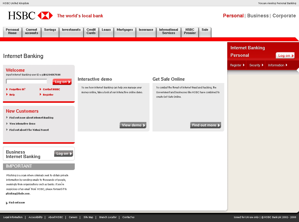 Your latest hsbc bank credit card statement is now available to view click for full size image reheart