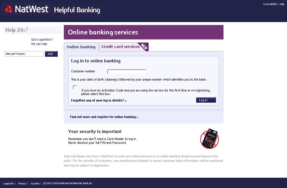 natwest online banking login