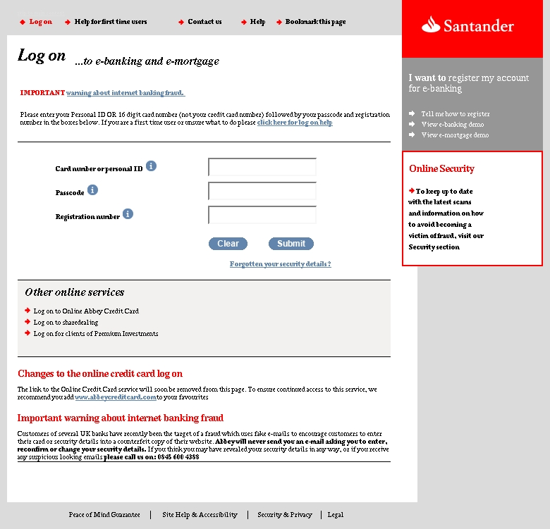customer service santander bank